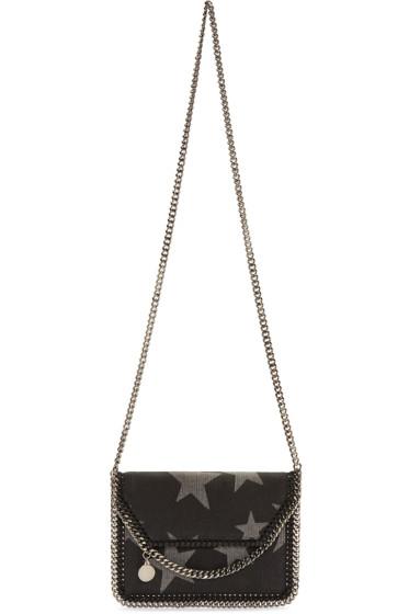 Stella McCartney - Black Denim Mini Stars Fallabella Bag