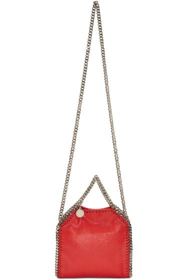 Stella McCartney - Red Tiny Falabella Shaggy Deer Bag