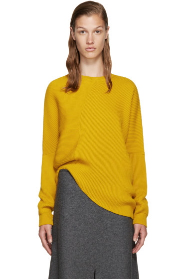 Stella McCartney - Yellow Ribbed Wool Sweater