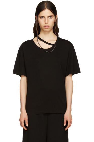Stella McCartney - Black Falabella Cut-Out T-Shirt