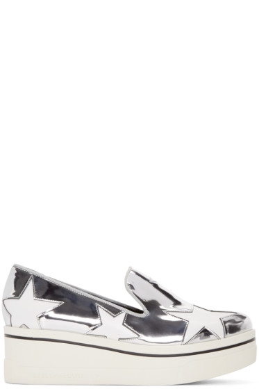 Stella McCartney - Silver Star Binx Loafers