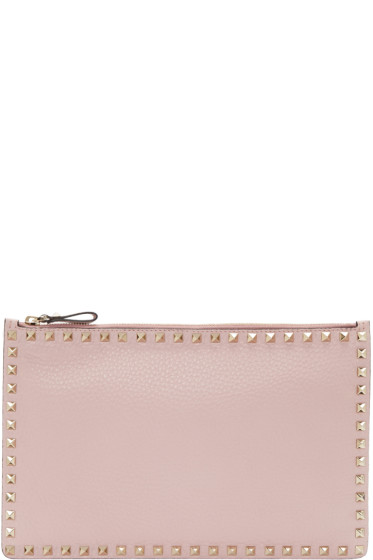 Valentino - Pink Large Rockstud Pouch