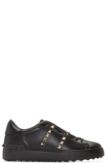 Valentino - Black Studded Sneakers