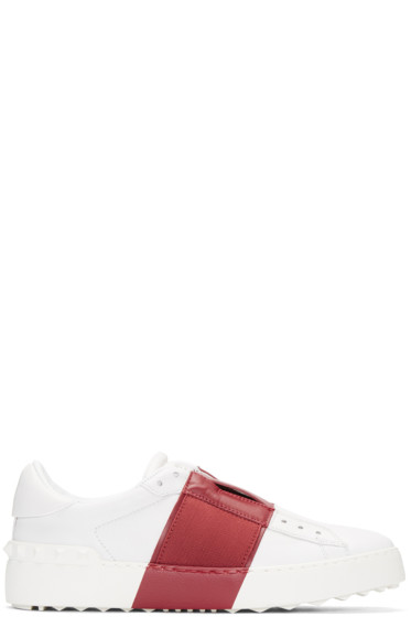 Valentino - White & Red Open Sneakers