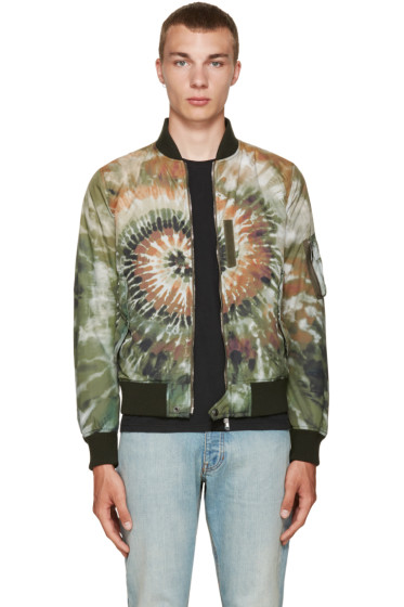 Valentino - Green Tie Dye Bomber Jacket