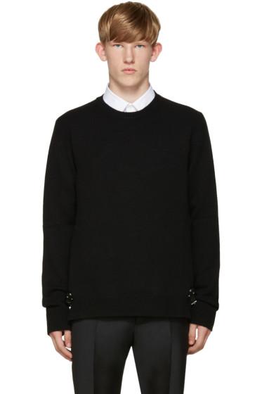Valentino - Black Cashmere Buckle Sweater