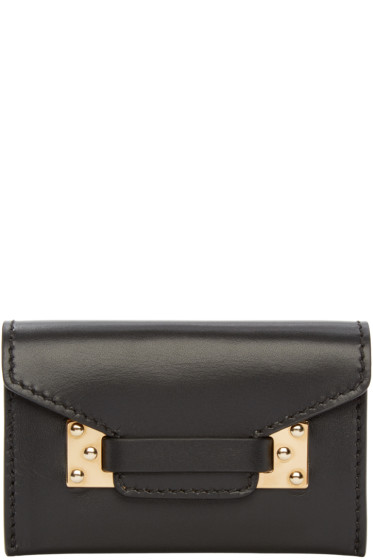 Sophie Hulme - Black Double Milner Card Holder