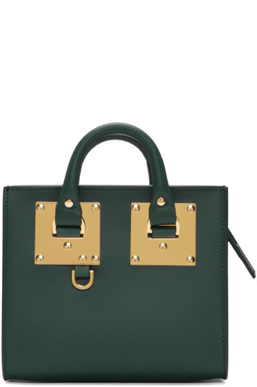 Sophie Hulme - Green Mini Albion Box Tote
