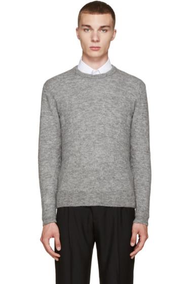 AMI Alexandre Mattiussi - Grey Crewneck Sweater