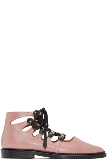 Toga Pulla - Pink Open Lace Oxfords