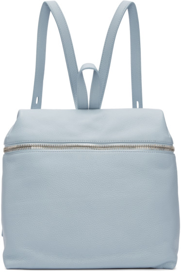 Kara - Blue Leather Backpack