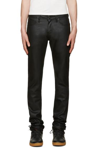 Naked & Famous Denim - Black Super Skinny Guy Waxed Jeans