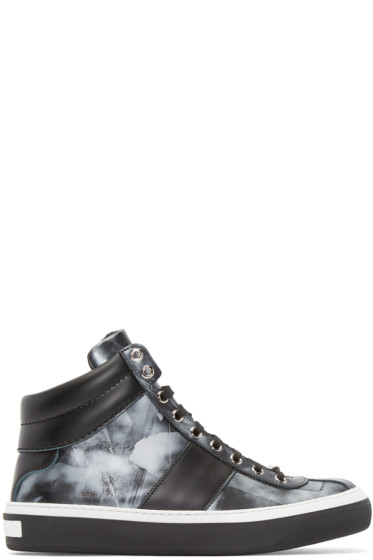 Jimmy Choo - Black Storm Belgravia High-Top Sneakers