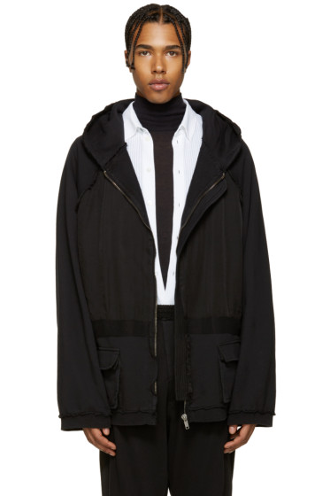 Haider Ackermann - Black Inside Out Hoodie