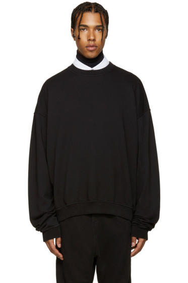 Haider Ackermann - Black Oversized Sweatshirt