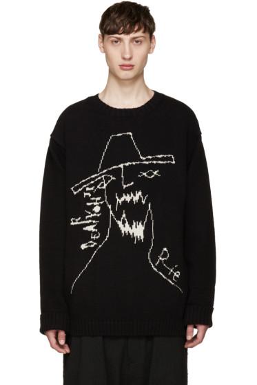 Yohji Yamamoto - Black Yohji Face Sweater