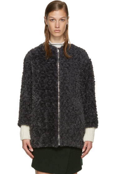 Isabel Marant Etoile - Grey Faux Fur Easy Abril Coat
