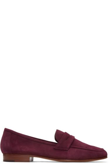 Mansur Gavriel - Purple Suede Classic Loafers