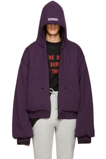 Vetements - Reversible Purple Oversized Hoodie