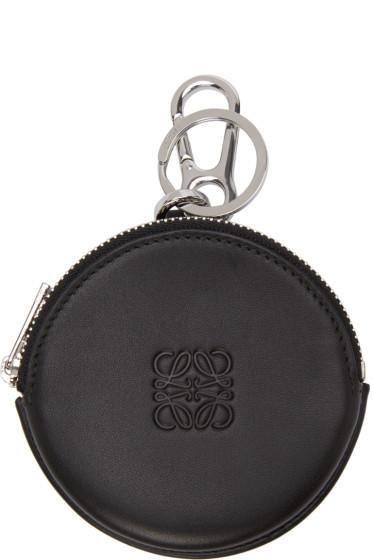 Loewe - Black Leather Cookie Keychain