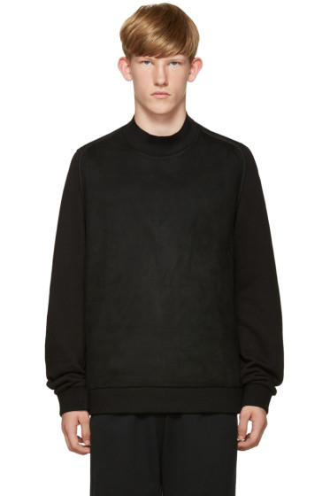 Wooyoungmi - Black Faux Suede Pullover