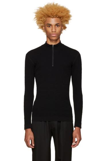 Issey Miyake Men - Black Half-Zip Pullover