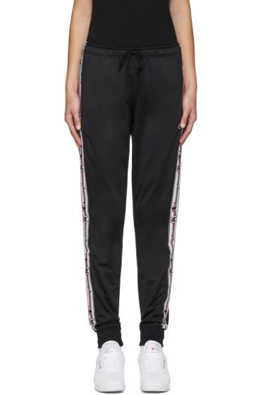 Champion Reverse Weave - Black Logo Track Pants