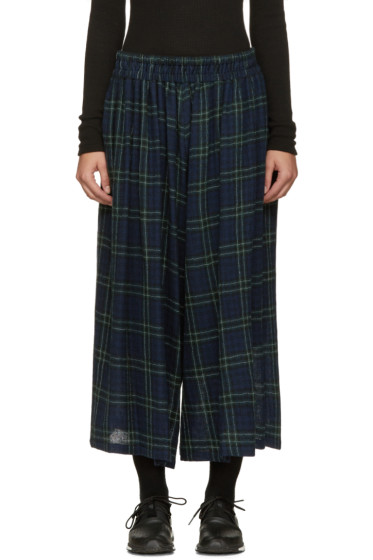 Nocturne #22 - Navy Wool Check Culottes