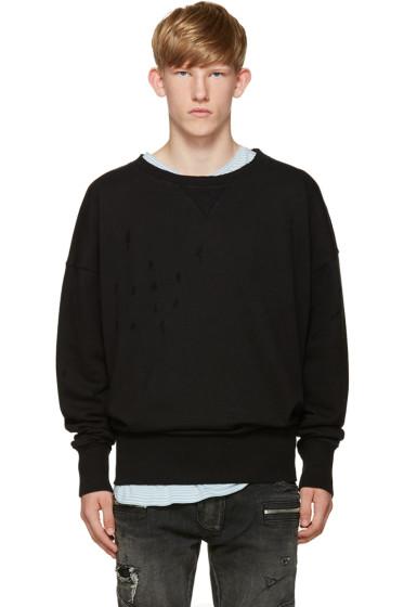 Faith Connexion - Black Destroyed Sweatshirt