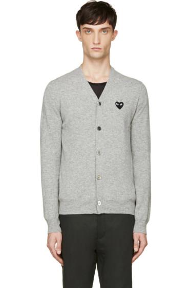Comme des Garçons Play - Grey Heart Logo Cardigan
