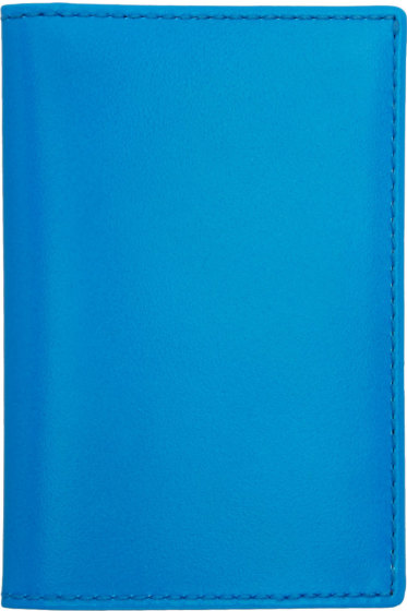 Comme des Garçons Wallets - Blue Super Fluo Card Holder