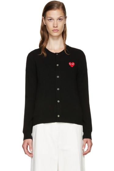 Comme des Garçons Play - Black Wool Heart Cardigan
