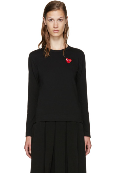 Comme des Garçons Play - Black Long Sleeve Heart T-Shirt