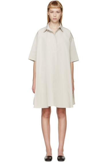 Lanvin - Beige Poplin Oversized Smock Dress