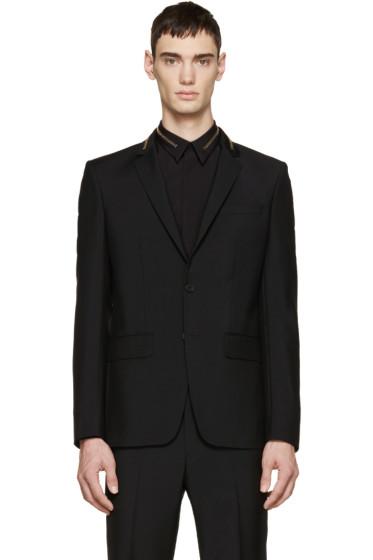 Givenchy - Black Wool Zippered Blazer