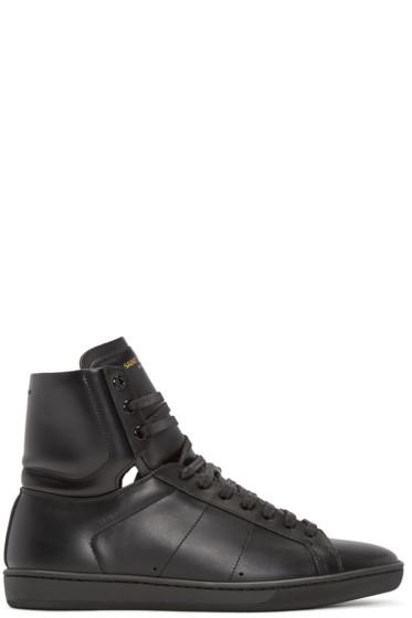 Saint Laurent - Black SL/01 Court Classic High-Top Sneakers