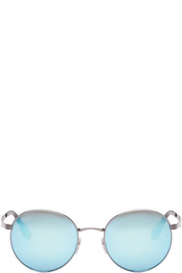 Ray-Ban - Gunmetal Round Mirrored Sunglasses