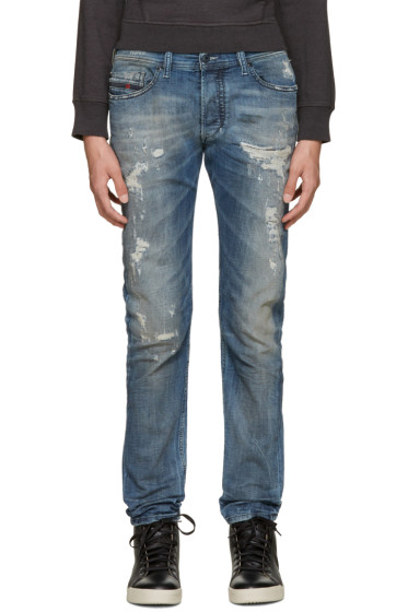 Diesel - Blue Distressed Tepphar Jeans