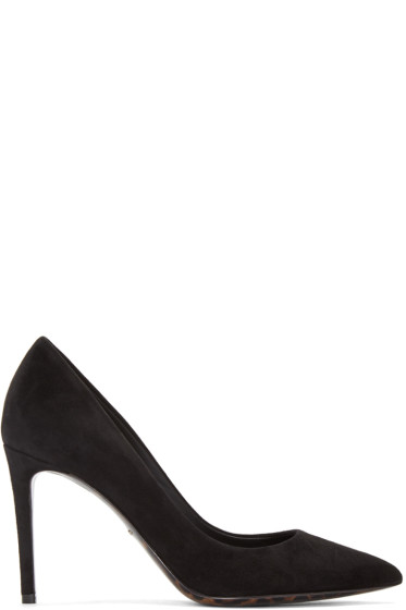 Dolce & Gabbana - Black Suede Heels