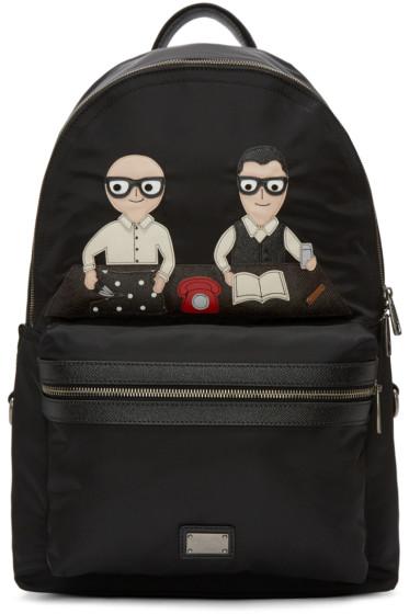 Dolce & Gabbana - Black Nylon Designers Backpack