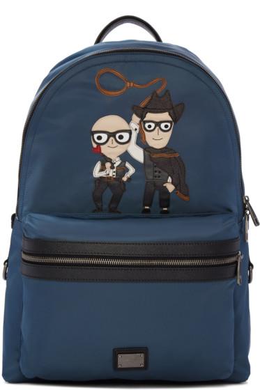 Dolce & Gabbana - Blue Designer & Cowboy Backpack