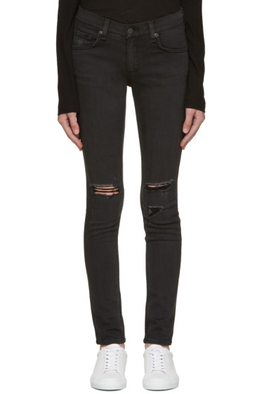 Rag & Bone - Black Soft Rock Skinny Jeans