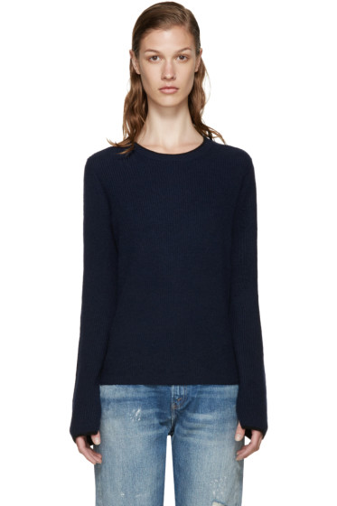 Rag & Bone - Navy Cashmere Lilianna Sweater