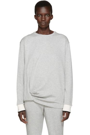 Rag & Bone - Grey Draped Sweatshirt