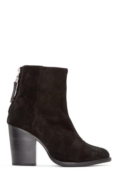 Rag & Bone - Black Suede Ashby Boots