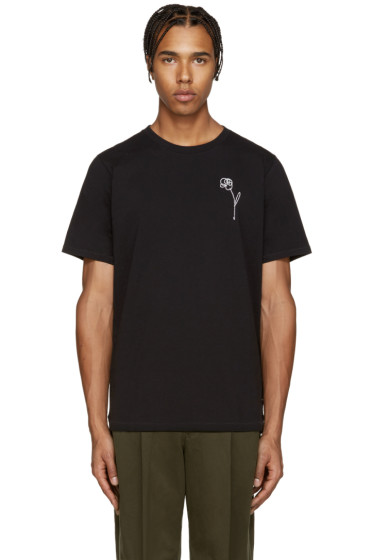 Rag & Bone - Black Flower Embroidery T-Shirt