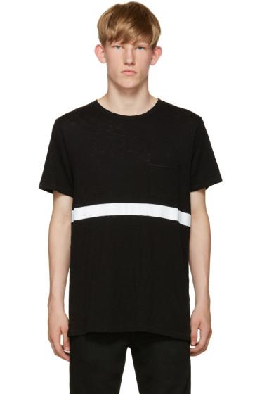 Rag & Bone - Black Contrast Stripe T-Shirt
