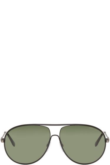 Tom Ford - Black Cliff Aviator Sunglasses