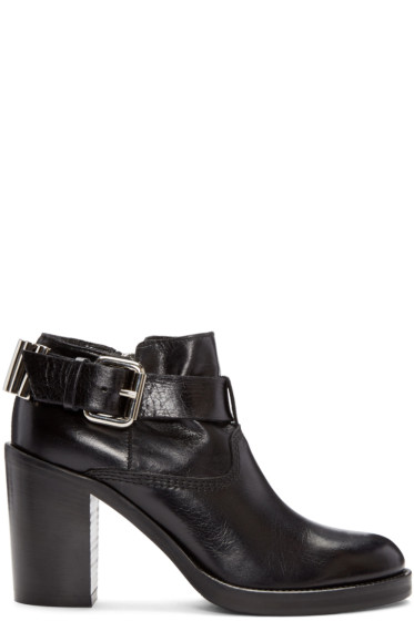 McQ Alexander Mcqueen - Black Wick Bullet Ankle Boots