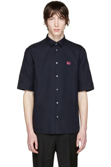 McQ Alexander Mcqueen - Navy Embroidered Sheehan Shirt